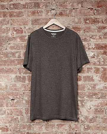 express one eleven soft wash crew neck t-shirt - gray