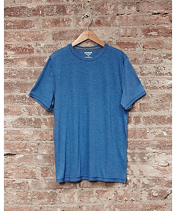express one eleven soft wash crew neck t-shirt - blue