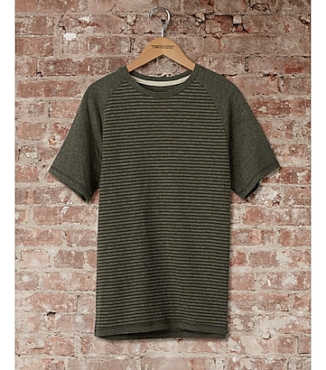 express one eleven dual stripe raglan t-shirt
