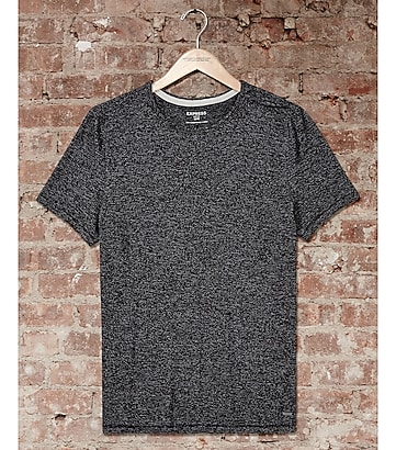 express one eleven marled crew neck t-shirt