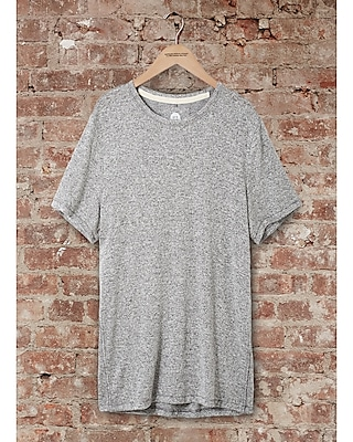 express one eleven marled crew neck t-shirt - heater gray