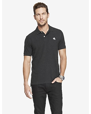modern fit small lion pique polo - gray heather