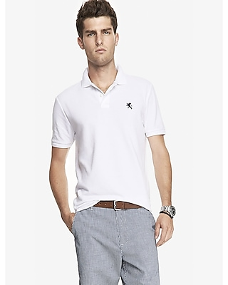 TALL FITTED SMALL LION PIQUE POLO