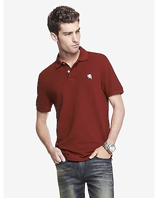 MODERN FIT SMALL LION PIQUE POLO