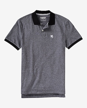 modern fit small lion oxford pique polo