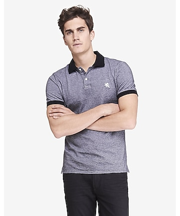 fitted small lion oxford pique polo
