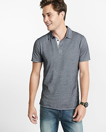 express one eleven dot stripe polo