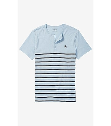 striped small lion henley tee