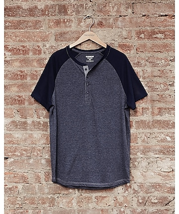 express one eleven soft wash baseball t-shirt - blue