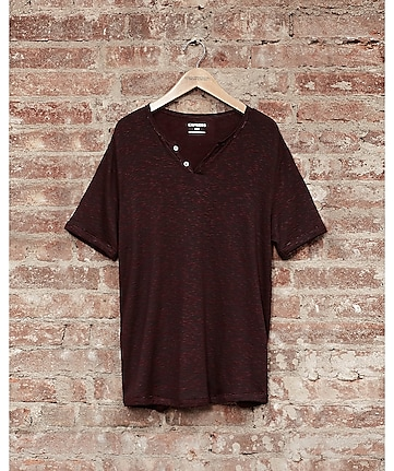 express one eleven soft wash jersey t-shirt - burgundy