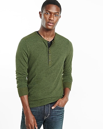express one eleven plush jersey henley