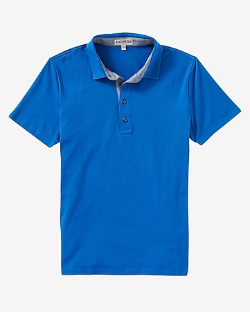 chambray placket signature polo