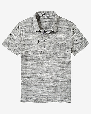 marled military signature polo