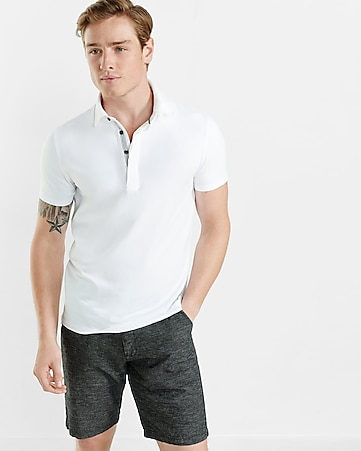 contrast placket signature polo