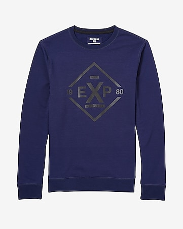 EXP diamond graphic crew neck sweatshirt