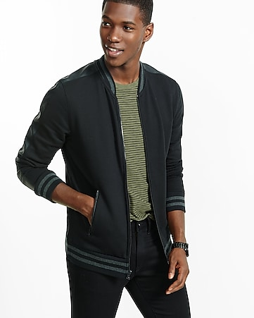 fleece zip front baseball jacket