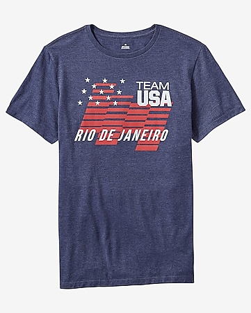 team usa stars and stripes blue graphic t-shirt