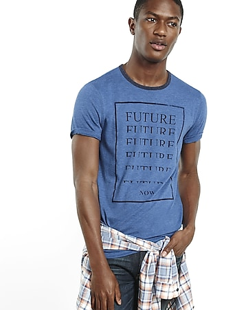 express one eleven future now graphic t-shirt