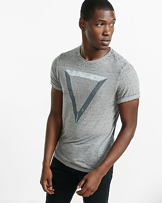 Express Mens Triangle Burnout Graphic T-Shirt