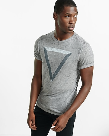 triangle burnout graphic t-shirt