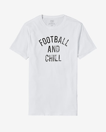 football and chill graphic t-shirt