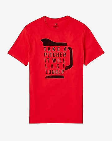 take a pitcher graphic t-shirt