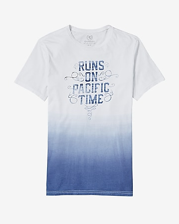pacific time ombre graphic t-shirt
