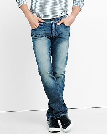 slim fit rocco medium straight leg jean