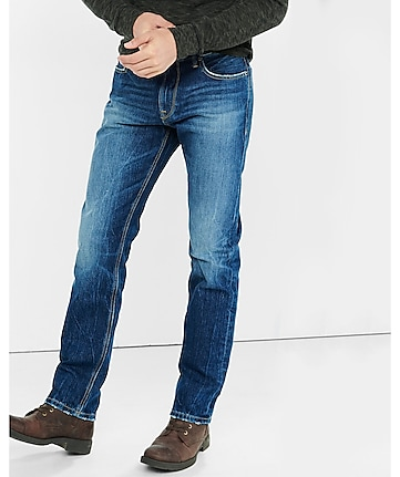 blue classic kingston slim leg jeans