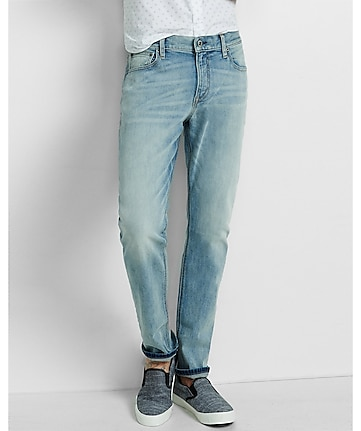 slim fit rocco light stretch straight leg jean