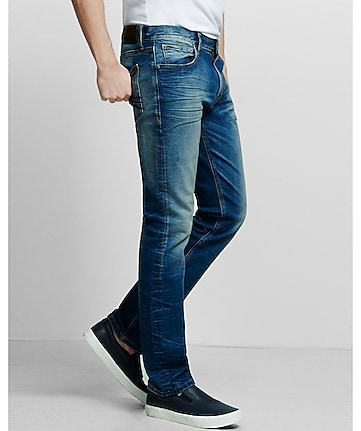 slim fit rocco faded stretch straight leg jean