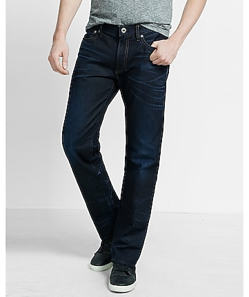 boot leg loose fit dark jean