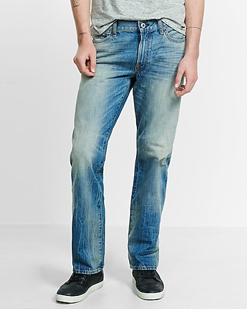 loose fit blake faded boot leg jean