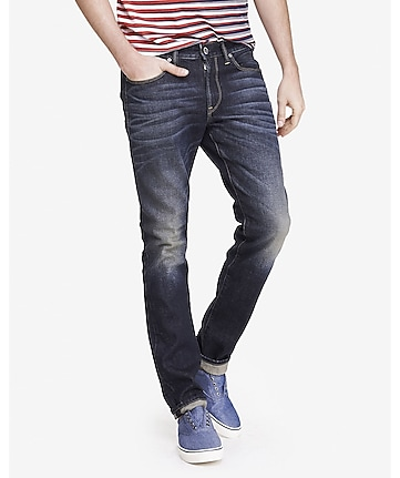 skinny alec dark flex stretch jean