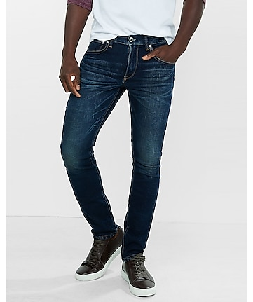 dark wash skinny alec performance stretch jean
