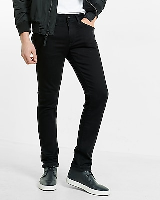 Men's Jeans Skinny Alec Black Flex Stretch Jean