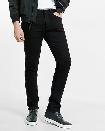 skinny leg performance stretch black jean