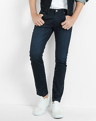 Men's Skinny Alec Dark Coated Flex Stretch Jean