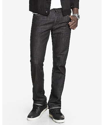 slim fit rocco black straight leg jean
