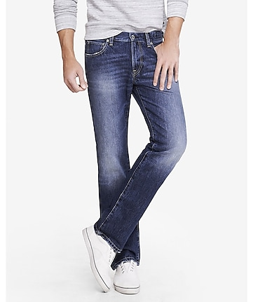 slim fit rocco faded straight leg jean