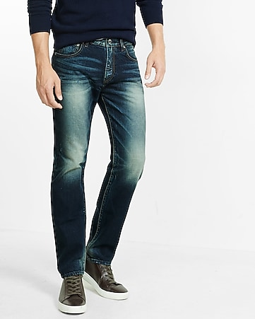 straight leg slim fit jean