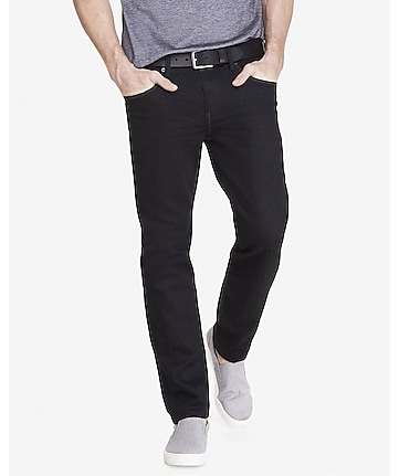 slim fit slim leg black jeans