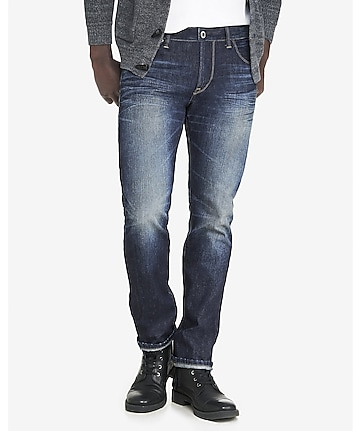 slim fit rocco dark slim leg jean