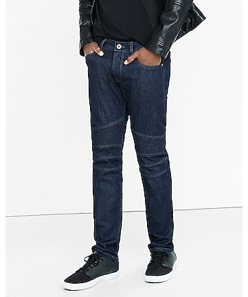 slim fit rocco dark moto slim leg jean