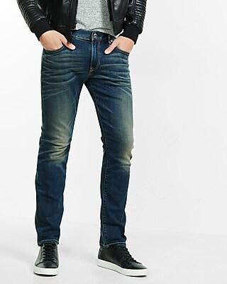 Express Mens Slim Fit Slim Leg Performance Stretch Jeans