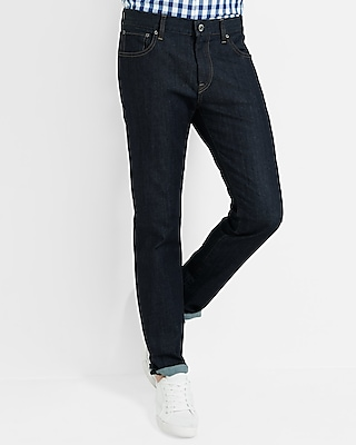 Express Mens Slim Dark Wash Stretch Jeans