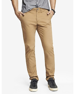 Express Mens Slim Dark Khaki Finn Chino Pant