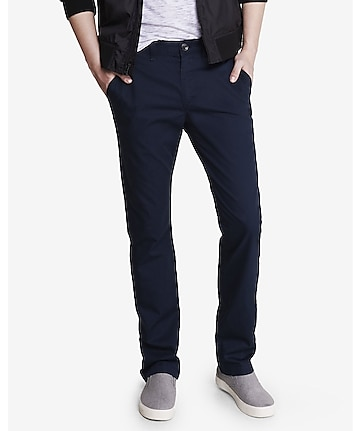 slim dark blue finn chino pant