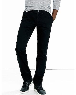 Express Mens Finn Slim Black Chino Pant