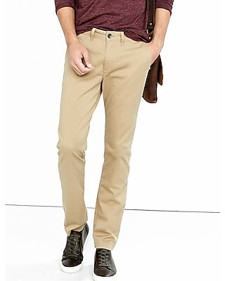 Express Mens Skinny Stretch Light Brown Chino